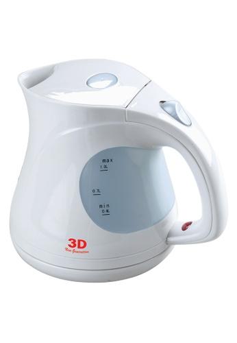 3D white Automatic Cordless Kettle 1L 9872EHL6DE9665GS_1