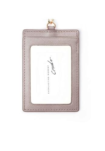 Crudo Leather Craft beige Senz'altro Leather Badge Holder - Saffiano Nude A1F3DACB55E992GS_1