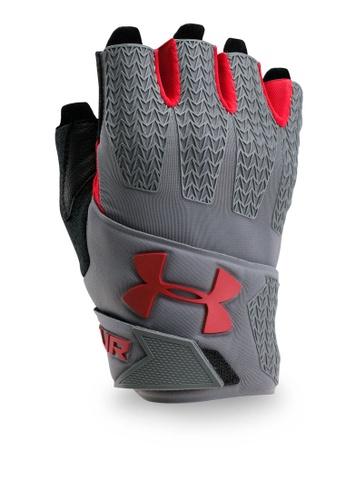 Under Armour red UA Clutchfit Resistor Gloves UN337AC0SU32MY_1