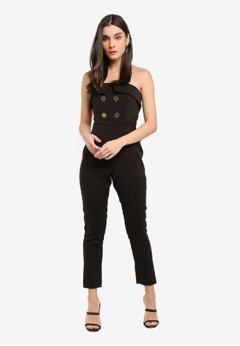 Lavish Alice black Strapless Tux Jumpsuit D3A9BAABB39B33GS_1