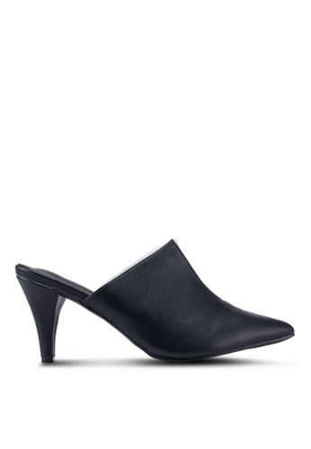 914aa001114 Shop Nose Half Perspex Mid Heel Mules Online on ZALORA Philippines