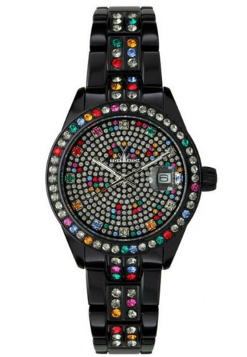 ToyWatch multi Metallic Stones Collection Multicolor Crystal Black Aluminium Bracelet Ladies Watch TO276AC20CPRMY_1