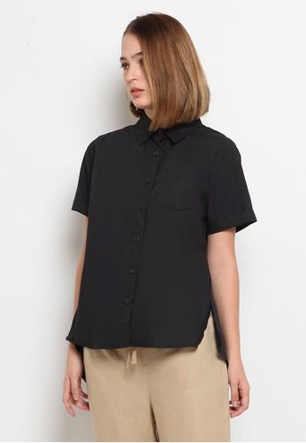 et cetera black Short Sleeve A-line Blouse FB20BAA61896A3GS_1
