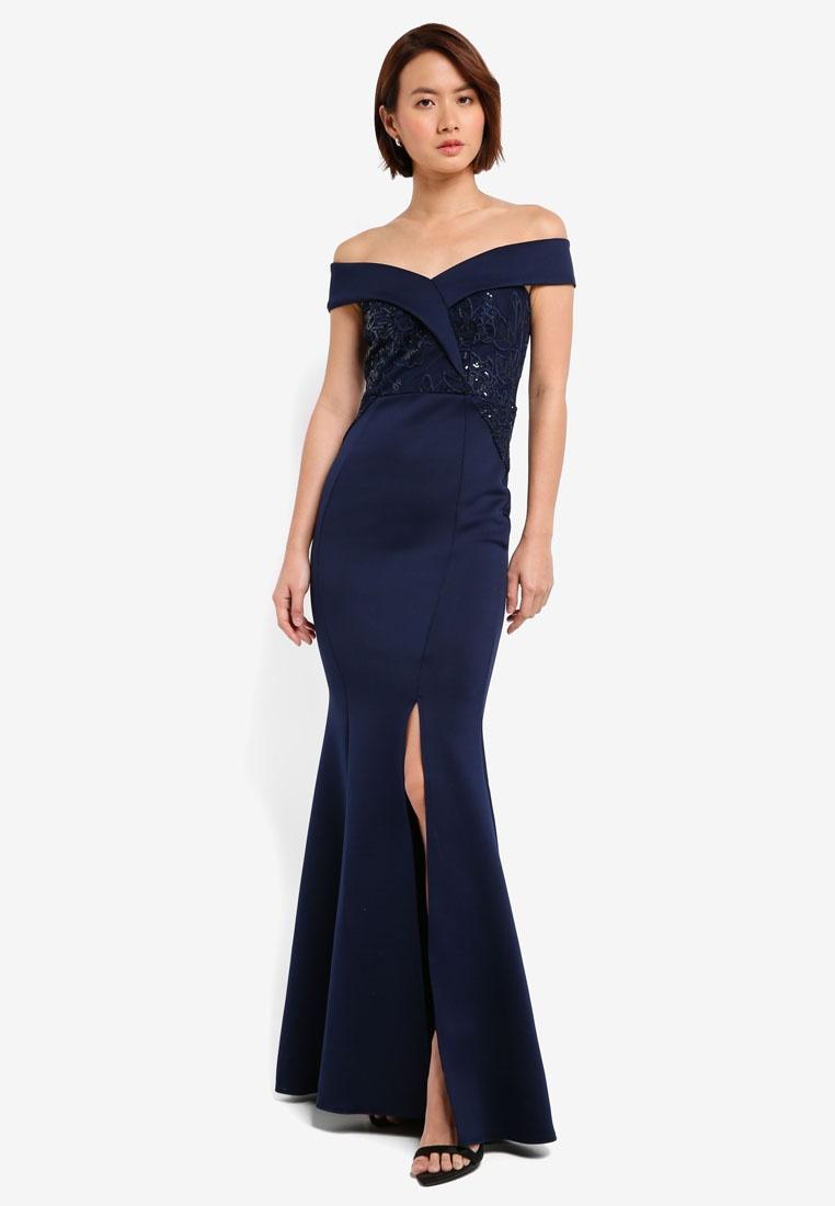 Navy Dress Navy Lace Fishtail Maxi Lipsy Bardot Sequin rwxrqg8FC ... 0a0213400