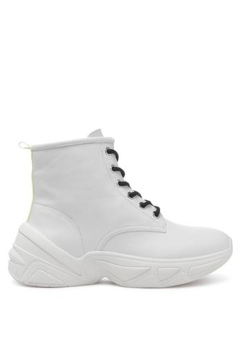 London Rag 白色 运动系带靴 28C79SHAFE6767GS_1