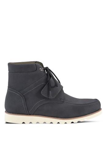 esprit門市軍事風仿皮短靴, 鞋, 鞋