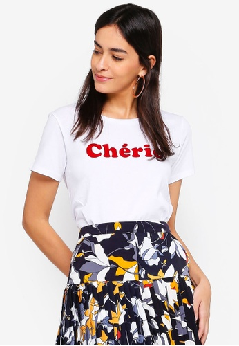 French Connection white Cherie (Honey) Short Sleeve Tee 7472AAA13849FBGS_1