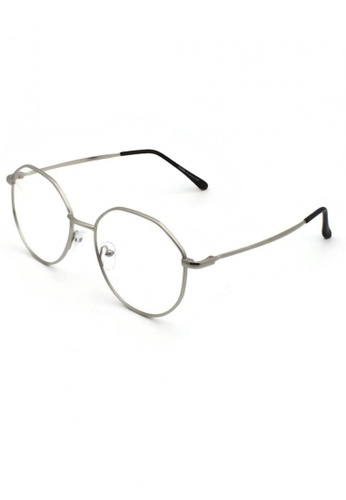 Dandelion silver Retro Style Blue Light Filtered Glasses 6FDFFGL04880C8GS_1