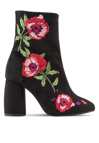 TOPSHOP black MADAME Embroidery Boots TO412SH09ZMKMY_1