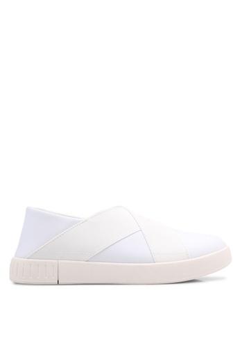 ZALORA white Classic Nylon Slip Ons BBE04SH63B9CAEGS_1