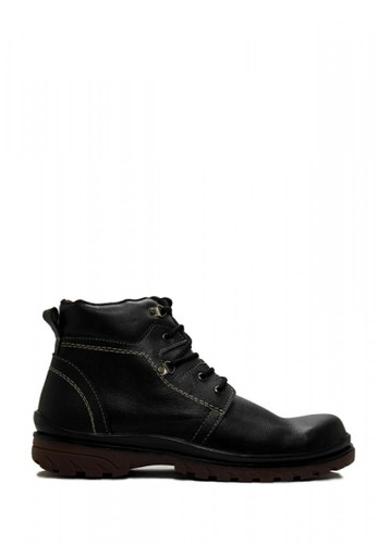 Cut Engineer black Cut Engineer Genuine Leather Safety Boots High Quality Black 51E65SH36628F7GS_1