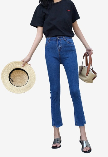 Lara blue Women High Rise Ankle-Length Jeans 98EA8AA6D10222GS_1