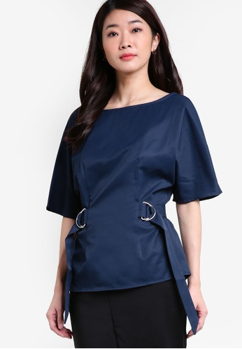 ZALORA navy Collection D-Ring Belt Top B08F1AA1A8F36AGS_1