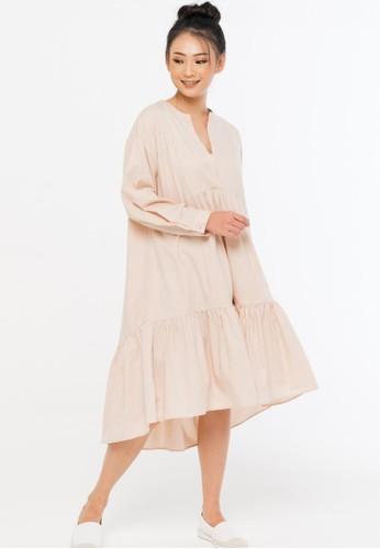 ONYCHA beige Leony Dress in Beige FCC26AAEA814A6GS_1