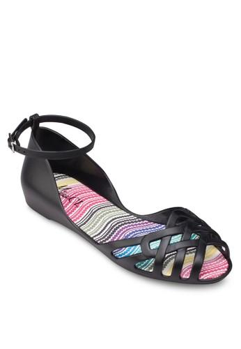 果凍交叉露趾繞踝涼鞋, 女鞋esprit 眼鏡, 鞋