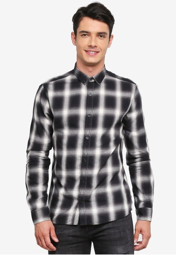 Only & Sons black Varly Checked Shirt 04CA8AA43081C3GS_1