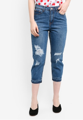 LOST INK blue Petite Off Duty Mom Jeans 6F10EAA4A6E898GS_1