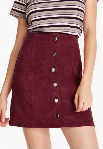 Pomelo red Mini Corduroy Button Down Skirt - Pink 9BBACAABB6C61BGS_1