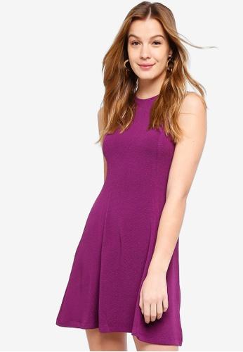 ZALORA BASICS purple Textured Swing Dress 766D4AA39A6142GS_1