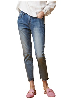 OUWEY歐薇 率性簡約修身牛仔褲