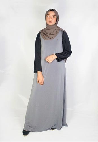Zaryluq grey Inner Dress in Ash Grey 85E8BAA7C9AAB1GS_1