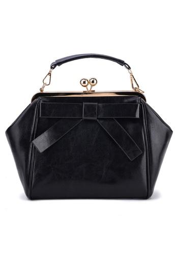 Vince black Korean Inspired Tote Bag VI456AC53TVQMY_1