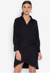 Susto The Label black Julissa Cascade Dress E460FAA90FD84DGS_1