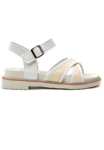 Crystal Korea Fashion white Korean Summer Convenience Flat Sandals 60048SH6BD1B3EGS_1