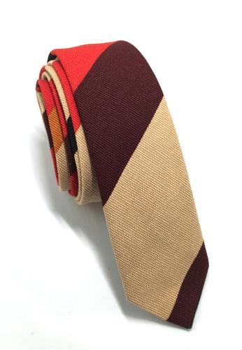 Splice Cufflinks Potpurri Series Browns, Red & Black Cotton Tie SP744AC58QNLSG_1