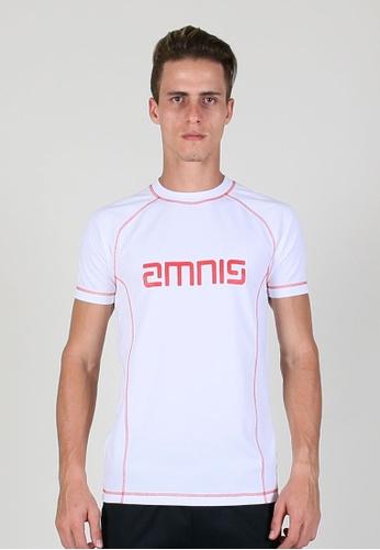 AMNIG white Amnig Men Training Logo Tee (White) E0645AAB073A98GS_1