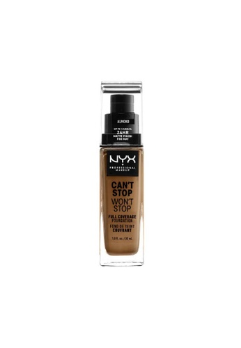NYX Professional Makeup brown NYX Professional Makeup Can't Stop Won't Stop 24HR Foundation - ALMOND 3A42FBE2E296CFGS_1