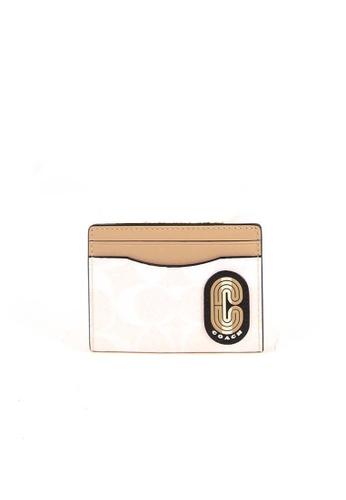Coach white Coach Signature Colorblock C4286 Magnetic Card Case In Chalk Multi 49800AC2D5ABF3GS_1