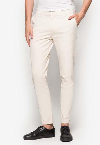 簡約窄esprit taiwan管休閒長褲, 服飾, 服飾