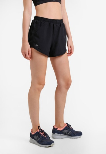 Under Armour black Fly By Shorts UN337AA0RAQLMY_1