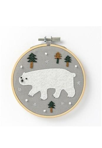 Klosh Felt Embroidery Kit - Polar Bear A97D4HL6E550B8GS_1