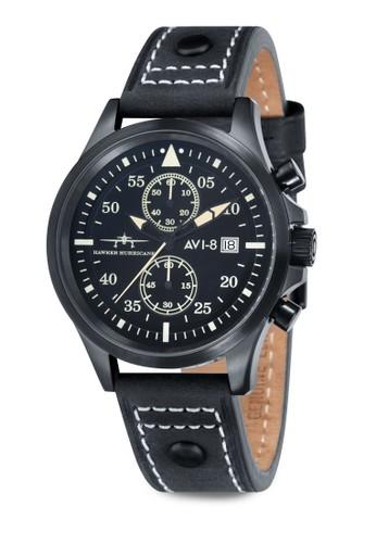 Hawker esprit官網Hurricane 多功能計時皮革手錶, 錶類, 指針型