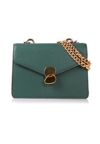 VOIR green VOIR Edgy Chunky Chain Handle Shoulder Bag - Green CEDCBACF76B37CGS_1
