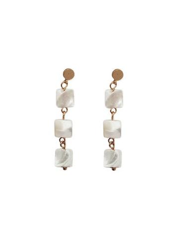 Glamorbit white White Statement Earrings 0EE8FACA5A3F7DGS_1
