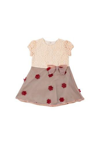 Torio Torio Vintage Roses Classic Dress - Pakaian Anak Perempuan Baju Anak Dress Anak D2B03KAD4E3009GS_1
