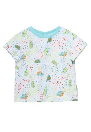 Du Pareil Au Même (DPAM) white Dinosaur Galaxy T-Shirt 3B018KA18DA336GS_1