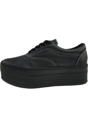 Maxstar 黑色 新款韩国鞋C50-5H-TC時尚皮革布混合女黑色 US Women Size MA345SH00GTFTW_1