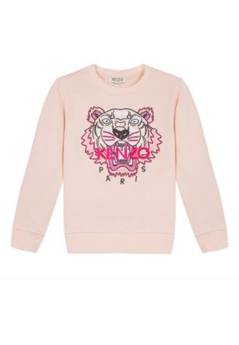 KENZO KIDS pink KENZO TIGER SWEATSHIRT FOR GIRLS CBF71KA5A11018GS_1