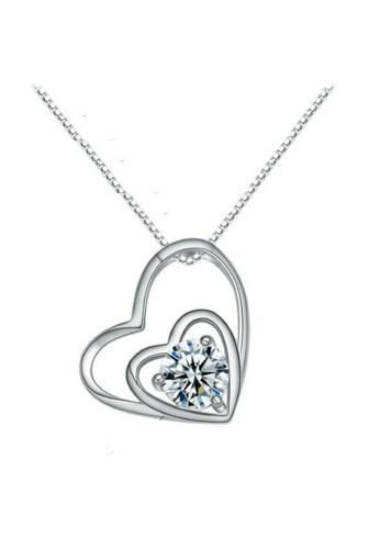 Vivere Rosse silver Interlocked Hearts Necklace VI014AC03SMUMY_1