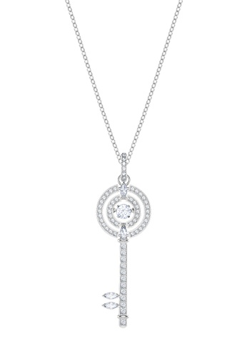 Swarovski silver Sparkling Dance Key Pendant Necklace FBD63AC1693237GS_1