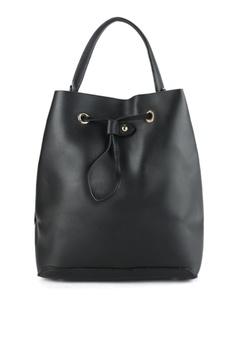 9c7244069763 ZALORA black Large Drawstring Bucket Bag 84B32AC272E35AGS 1