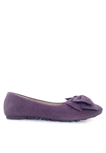 Twenty Eight Shoes 紫色 空氣感蝴蝶結平底鞋 VL1323 2CFC1SH039798DGS_1