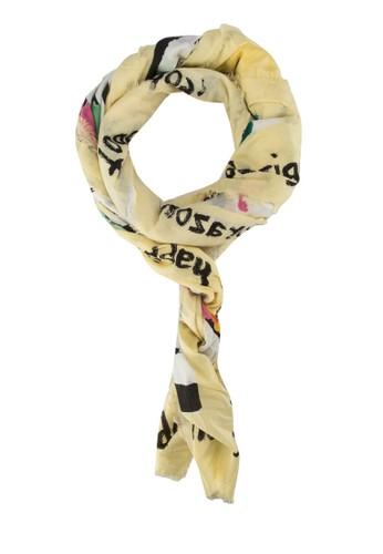 Mzalora 鞋評價arine Amarillo Fluor Foulard 圍巾, 飾品配件, 披肩