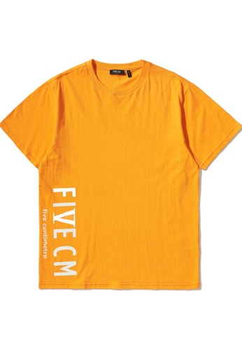 Fivecm orange Logo print tee E4202AA35A3E7FGS_1