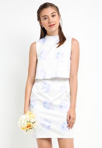 ZALORA multi Bridesmaid Double Layer Pencil Dress 362B1AA070477EGS_1