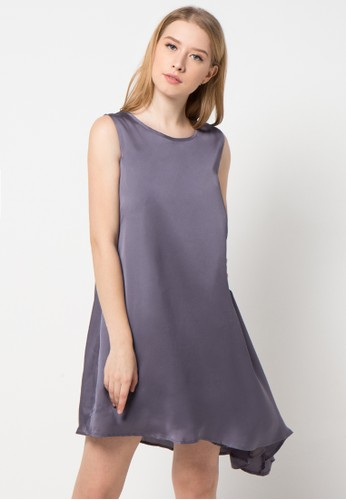 EDITION grey Asymetric Dress ED101AA35ANCID_1